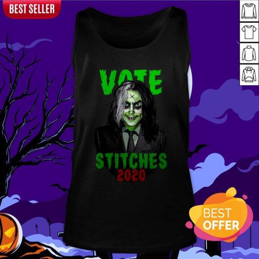 Vote Stitches 2020 Spooky Halloween Vintage Tank Top