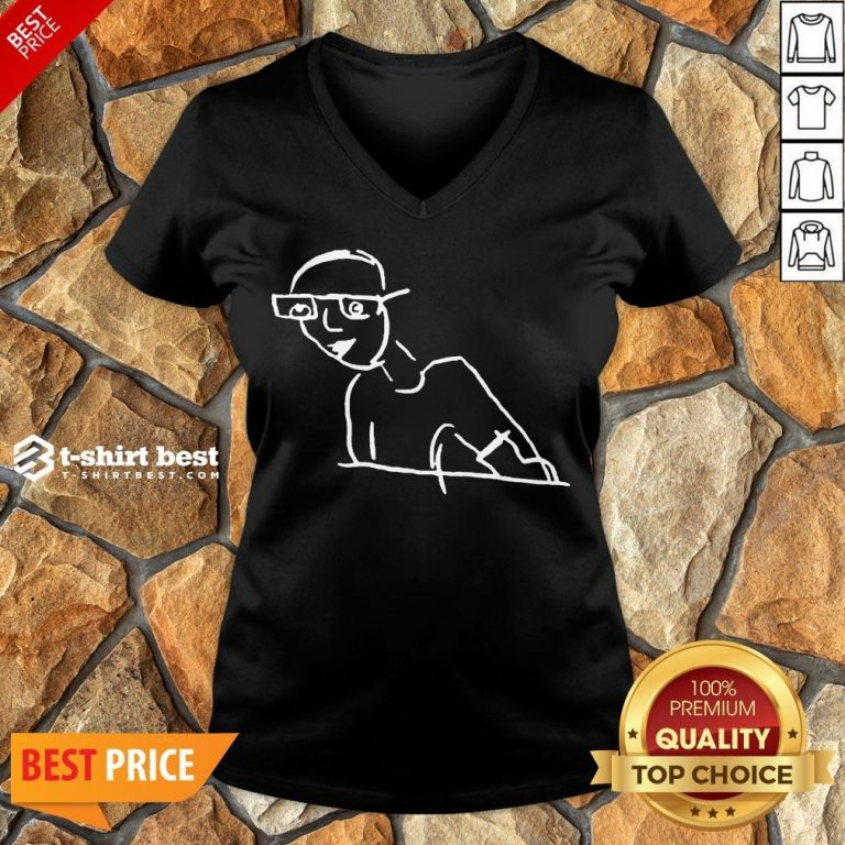 Funny Kirk Minihane Drawing V-neck- Design By T-shirtbest.com