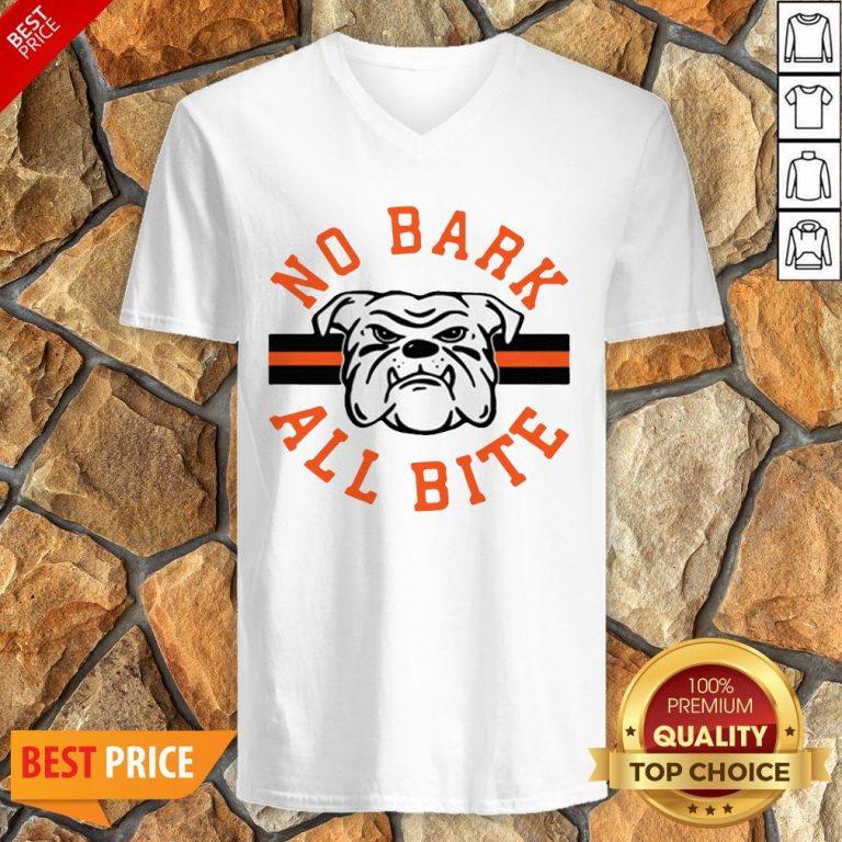 Funny No Bark All Bite V-neck
