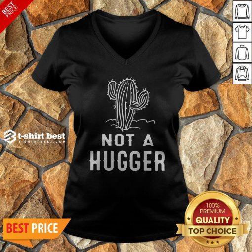 Funny Not A Hugger V-neck