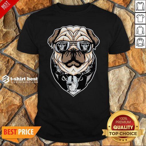 Funny Pug Dog Oklahoma Raiders Logo Shirt