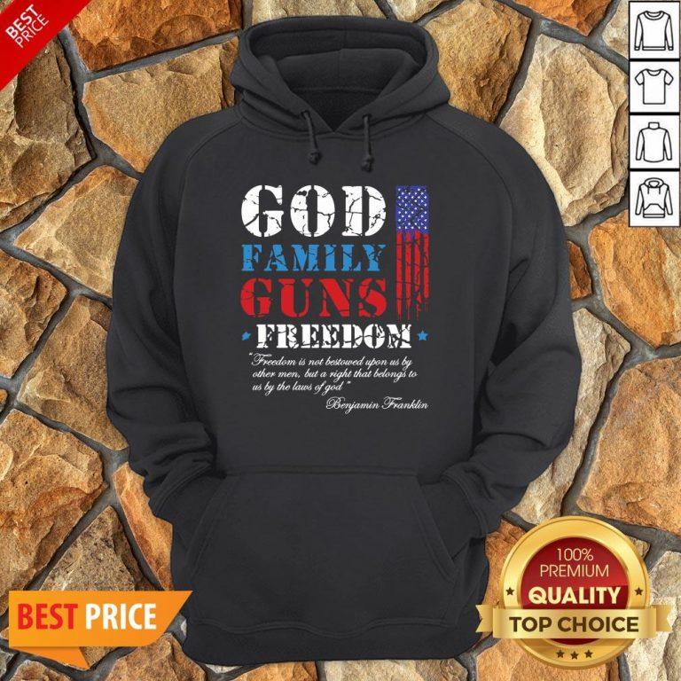 God Family Guns Freedom Christian Maga 2020 Trump Hoodie