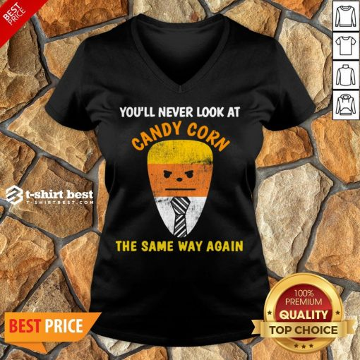 Good Candy Corn Trump Costume Halloween Candy V-neck- Design By T-shirtbest.com