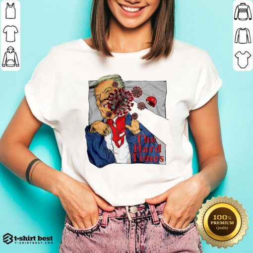Good Corona Punch Trump The Hard Times V-neck- Design By T-shirtbest.com