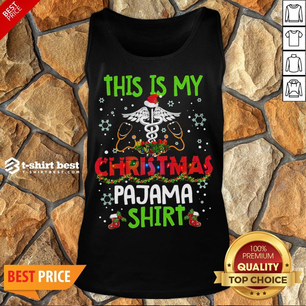 Happy This Is My Christmas Pajama Tank Top- Design By T-shirtbest.com