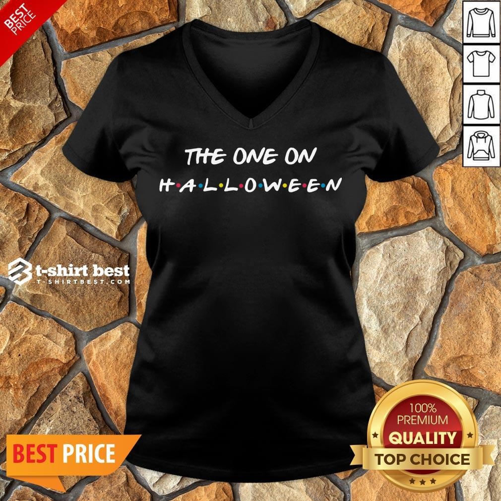 Hot Halloween 2020 Friends The One On Halloween V-neck- Design By T-shirtbest.com