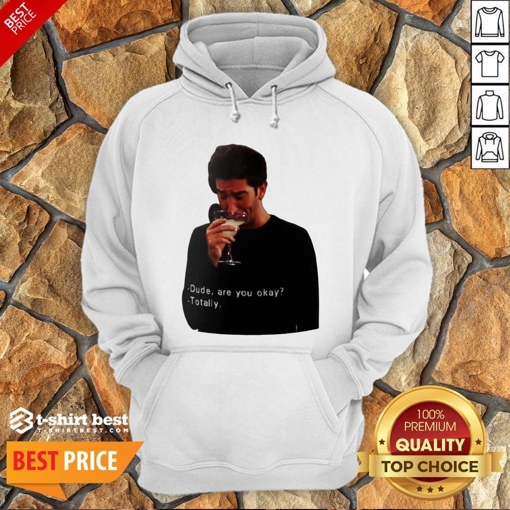 Hot Ross Geller Dude Are You Okay Totally Hoodie- Design By T-shirtbest.com