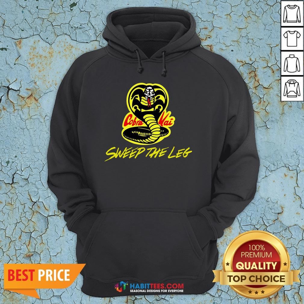 Hot Sweep The Leg Cobra Kai Karate Kid 80s Hoodie- Design By T-shirtbest.com