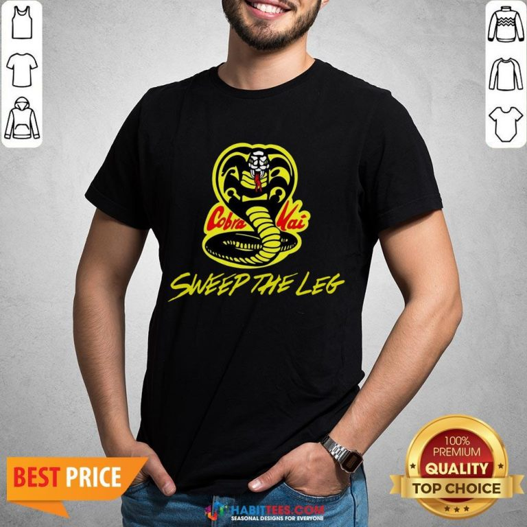 Hot Sweep The Leg Cobra Kai Karate Kid 80s Shirt- Design By T-shirtbest.com
