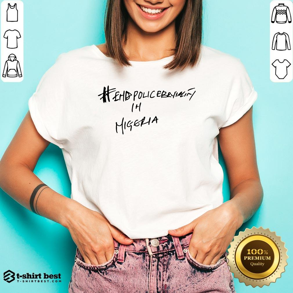 Hot Victor Osimhen Napoli End Police Brutality V-neck- Design By T-shirtbest.com