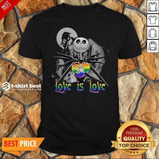 Jack Skellington LGBT Pride Love Is Love Shirt