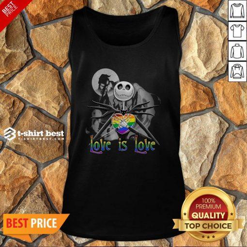 Jack Skellington LGBT Pride Love Is Love Tank Top