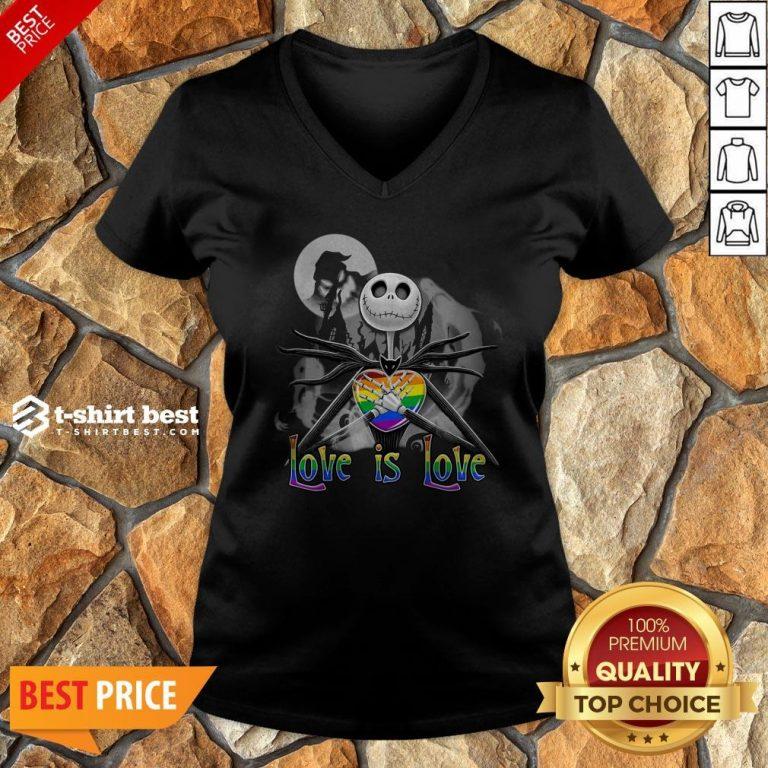 Jack Skellington LGBT Pride Love Is Love V-neck