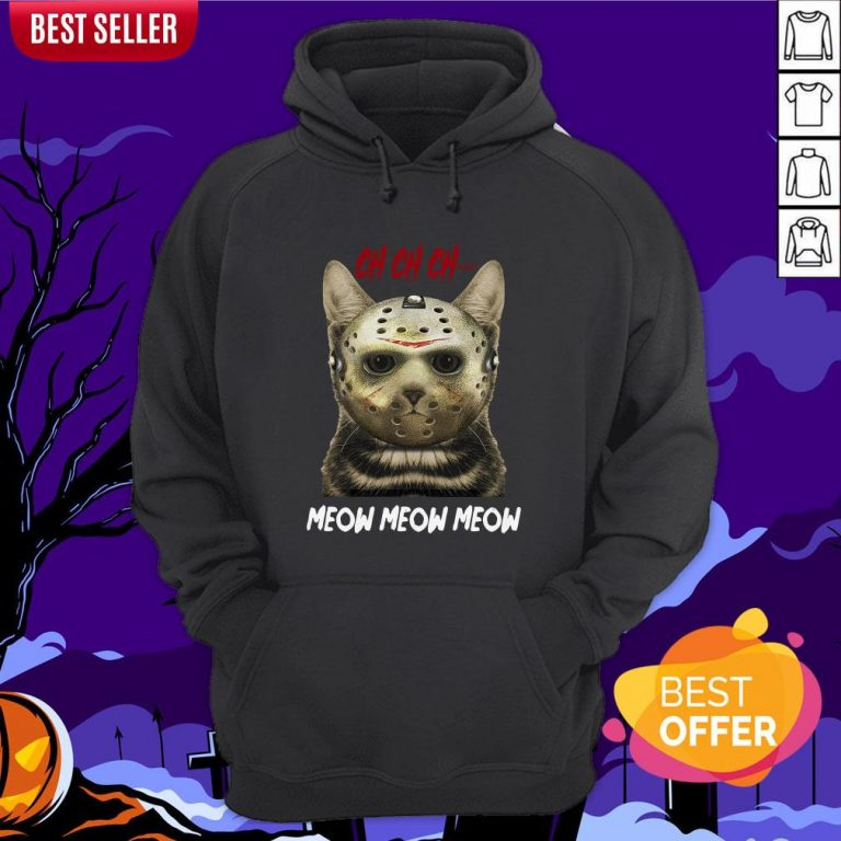 Jason Voorhees Ch Ch Ch Meow Meow Meows Hoodie