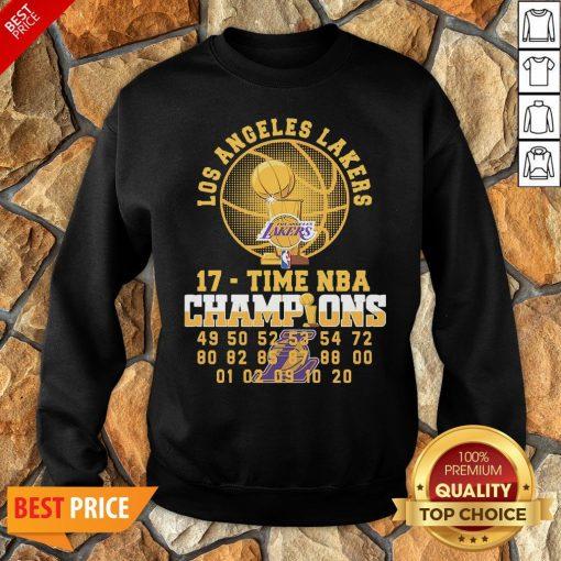 Los Angeles Lakers 17 Time NBA Champions Sweatshirt