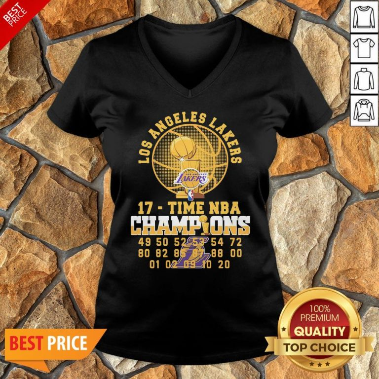 Los Angeles Lakers 17 Time NBA Champions V-neck