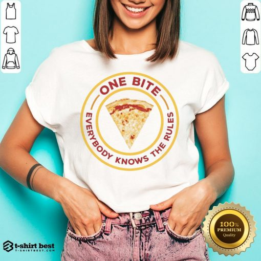 Nice One Bite Everyone Knows The Rules V-neck- Design By T-shirtbest.com