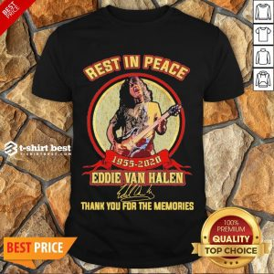 Nice Rest In Peace 1955 2020 Eddie Van Halen Signature Thank You For The Memories Shirt- Design By T-shirtbest.com