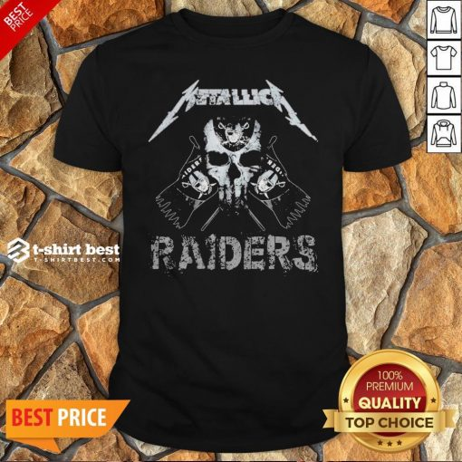 Nice Skull Metallica Oklahoma Raiders Shirt