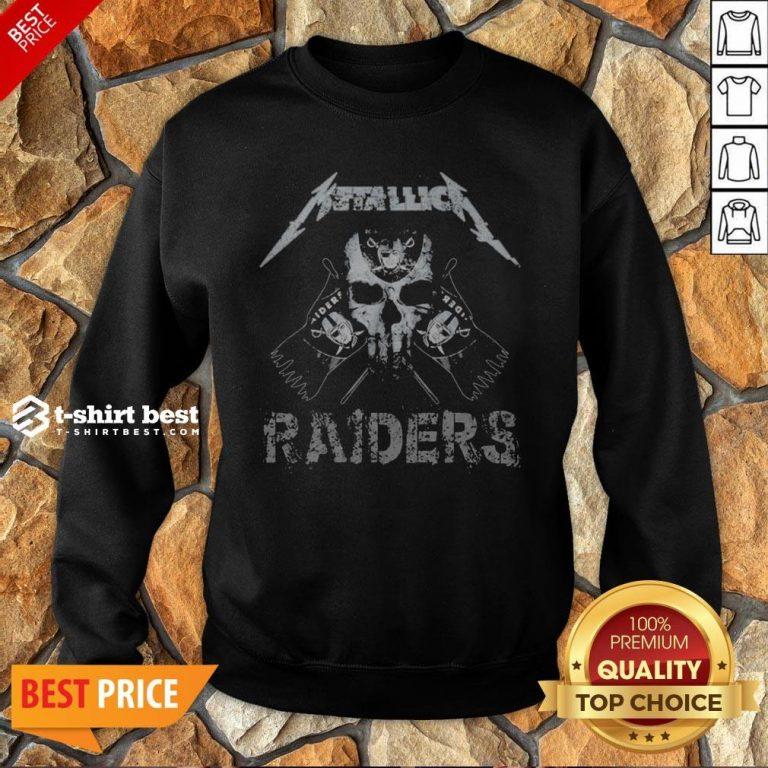 Nice Skull Metallica Oklahoma Raiders Sweatshirt