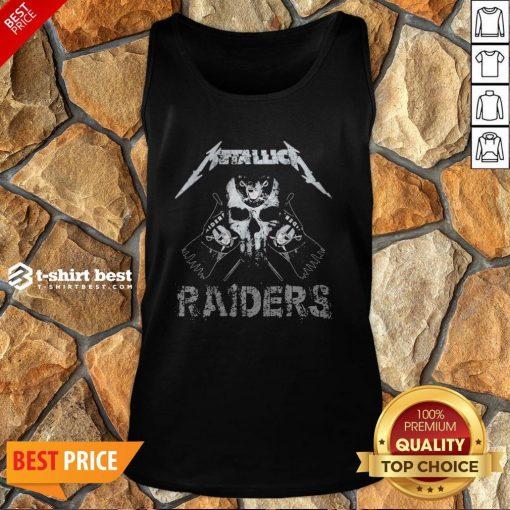 Nice Skull Metallica Oklahoma Raiders Tank Top