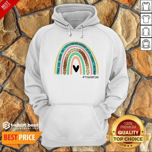 Nice Teacher Love Inspire Not Ivate Lead Encourage Teacher Life Classic Hoodie- Design By T-shirtbest.com