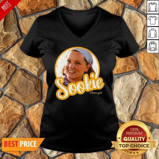 Official Gilmore Girls Sookie Circle Portrait V-neck