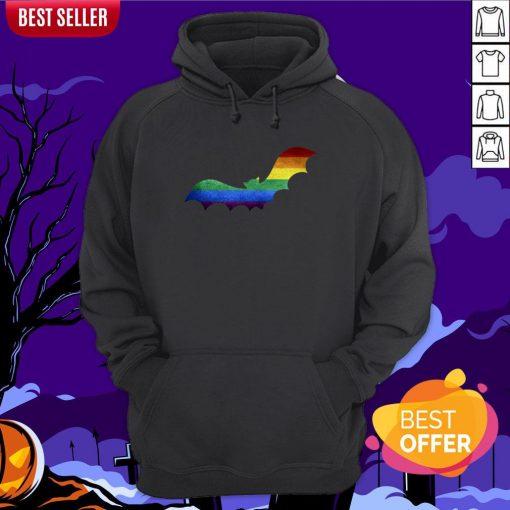 Scary LGBT Bat Happy Halloween Day Hoodie