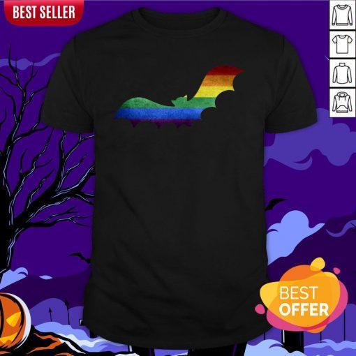 Scary LGBT Bat Happy Halloween Day Shirt