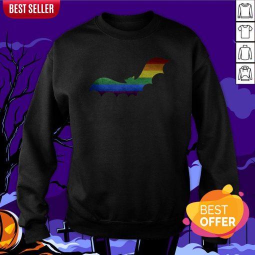 Scary LGBT Bat Happy Halloween Day Sweatshirt
