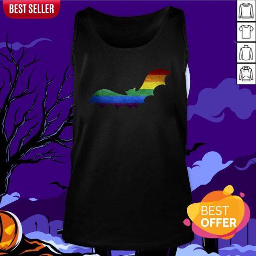 Scary LGBT Bat Happy Halloween Day Tank Top