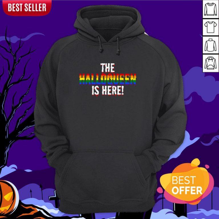The Halloqueen Is Here Halloween LGBT Rainbow Hoodie