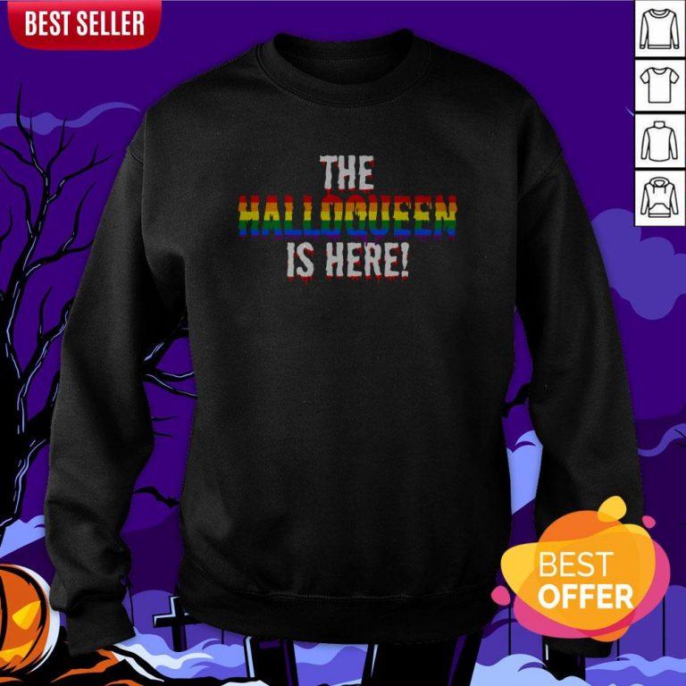 The Halloqueen Is Here Halloween LGBT Rainbow Sweatshirt