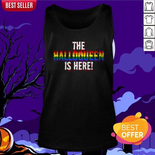 The Halloqueen Is Here Halloween LGBT Rainbow Tank Top