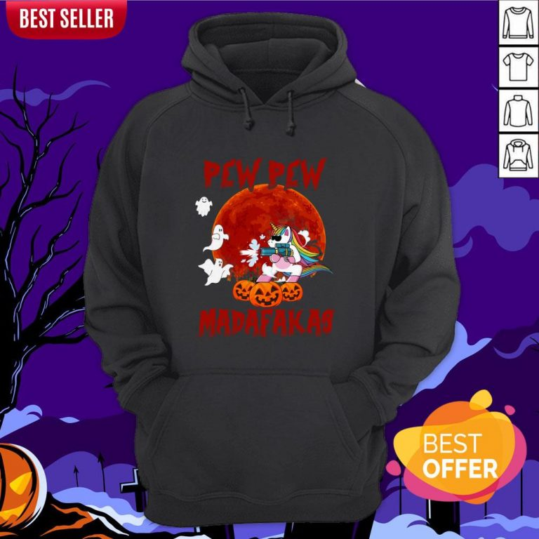 Unicorn Pewpew Madafakas Halloween Day Hoodie