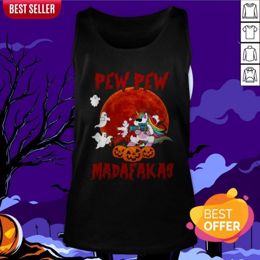 Unicorn Pewpew Madafakas Halloween Day Tank Top