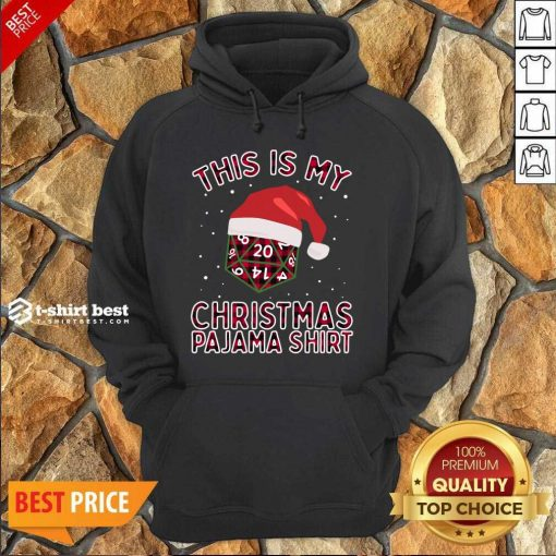 This Is My Christmas Pajama Plaid Board Game Role Play D20 T-Hoodie - Design By 1tees.com