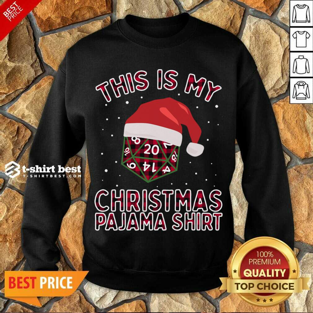 This Is My Christmas Pajama Plaid Board Game Role Play D20 T-Sweatshirt - Design By 1tees.com