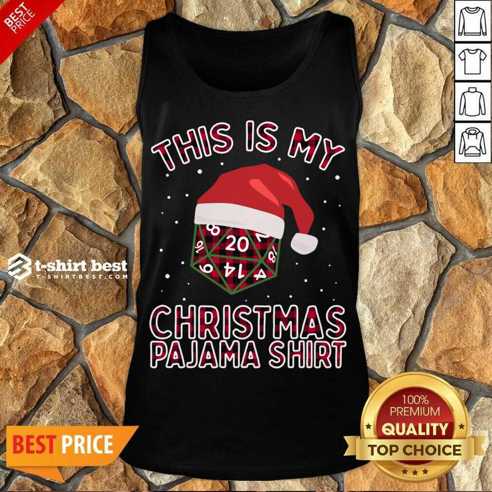 This Is My Christmas Pajama Plaid Board Game Role Play D20 T-Tank Top - Design By 1tees.com