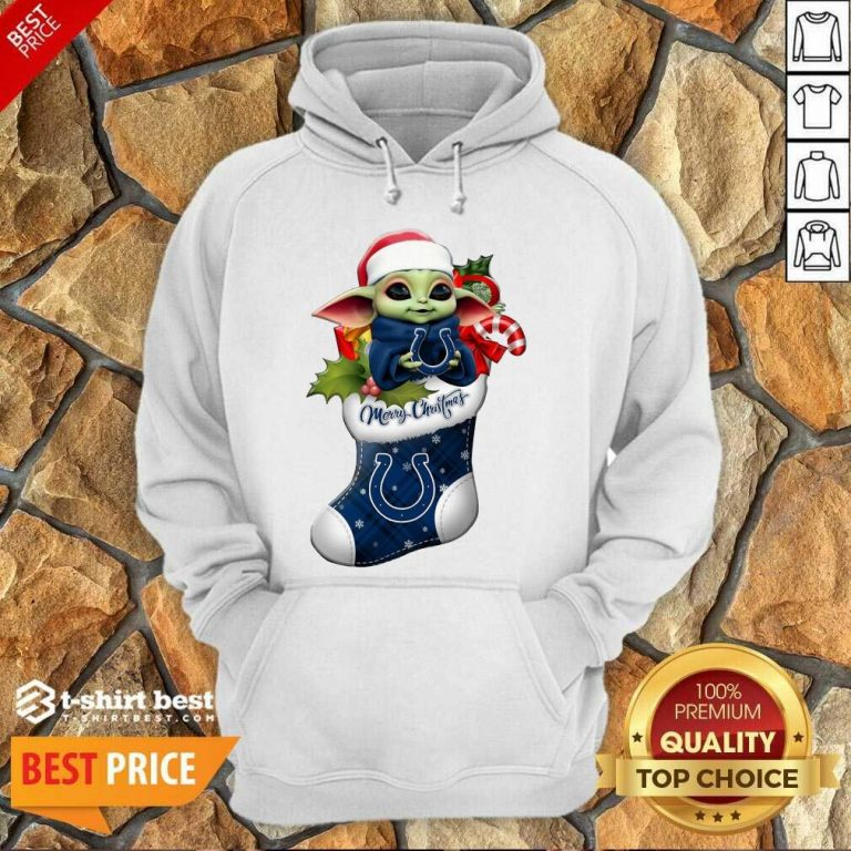 Baby Yoda Hug Indianapolis Colts Ornament Merry Christmas 2020 Hoodie - Design By 1tees.com