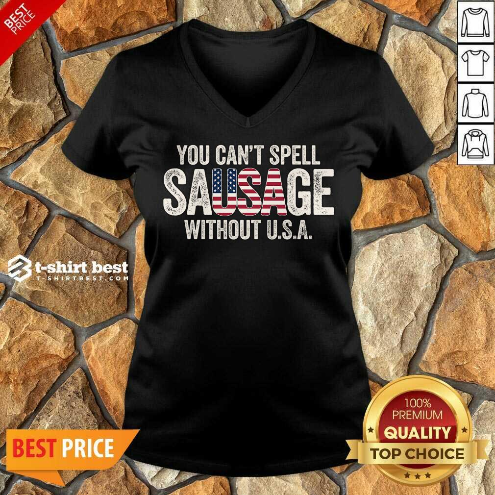 You-Can-T-Spell-Sausage-Without V-neck - Design By 1tees.com