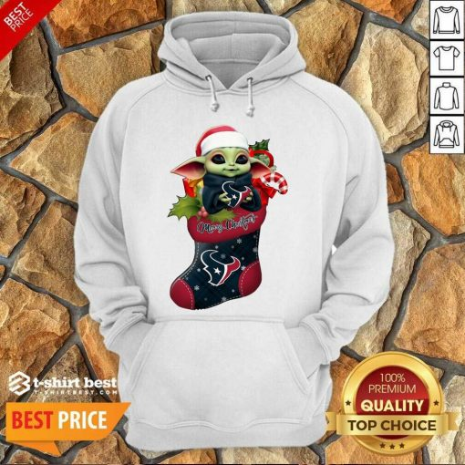 Baby Yoda Hug Houston Texans Ornament Merry Christmas 2020 Hoodie - Design By 1tees.com