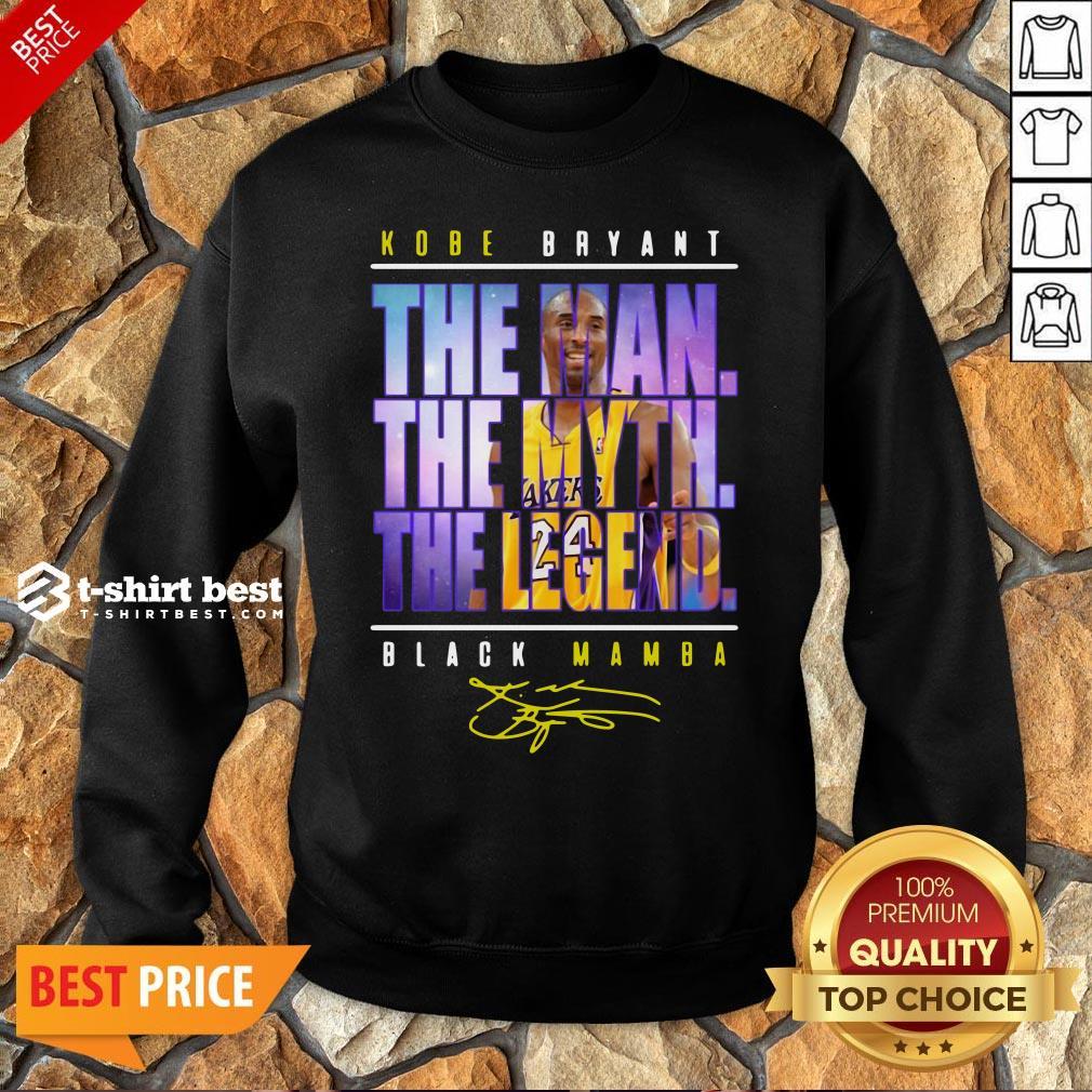 Funny Kobe Bryant The Man The Myth The Legend Black Mamba Signature Sweatshirt