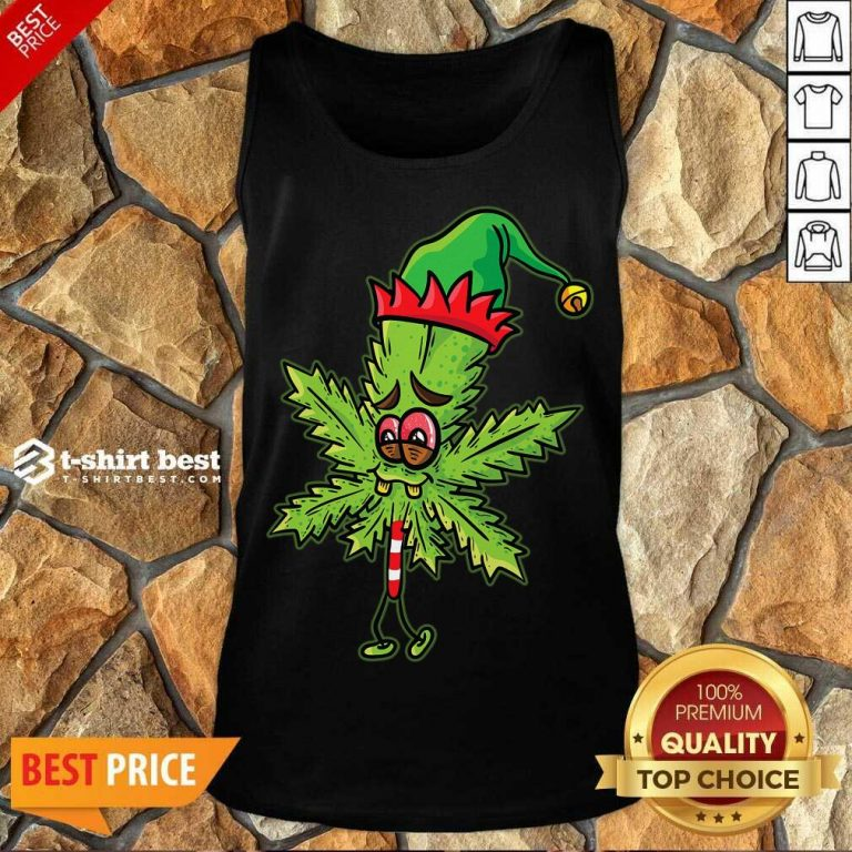 Lick Cannabis Candy Christmas Tank Top - Design By 1tees.com