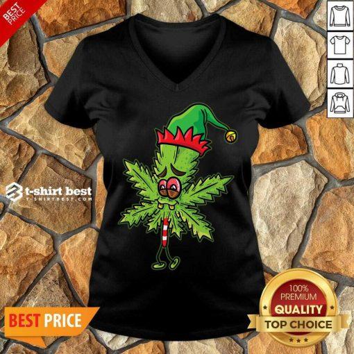Lick Cannabis Candy Christmas V-neck - Design By 1tees.com