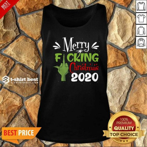 Funny Merry Fuking Christmas 2020 Grinch Tank Top