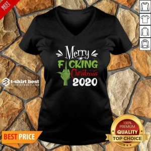 Funny Merry Fuking Christmas 2020 Grinch V-neck