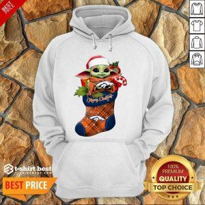 Good Baby Yoda Hug Denver Broncos Ornament Merry Christmas 2020 Hoodie - Design By 1tees.com