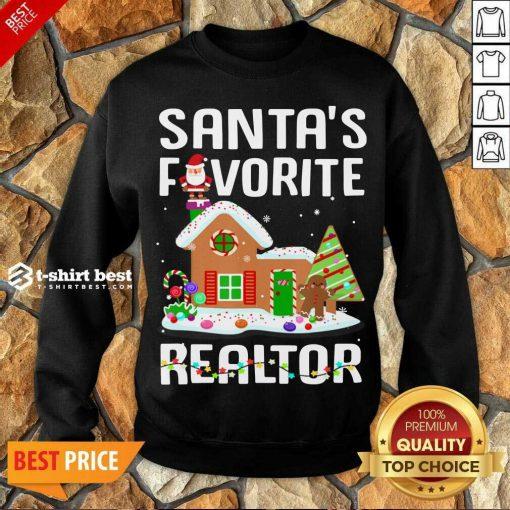 Santa's Favorite Realtor Anti Covid-19 Merry Christmas 2020 Sweatshirt - Design By 1tees.com