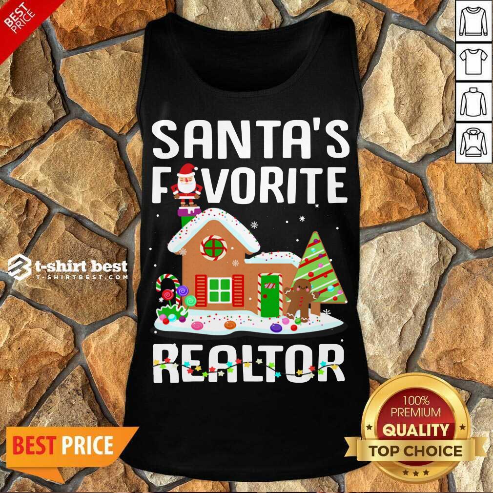 Santa's Favorite Realtor Anti Covid-19 Merry Christmas 2020 Tank Top - Design By 1tees.com